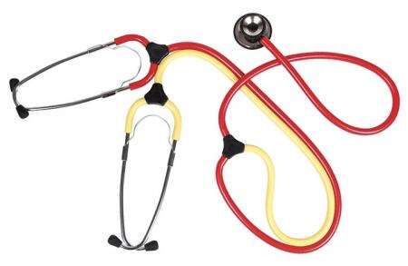 Leer stethoscoop met dubbele slang per stuk