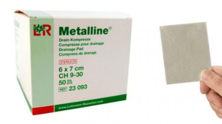 Metalline niet verklevend gaaskompres