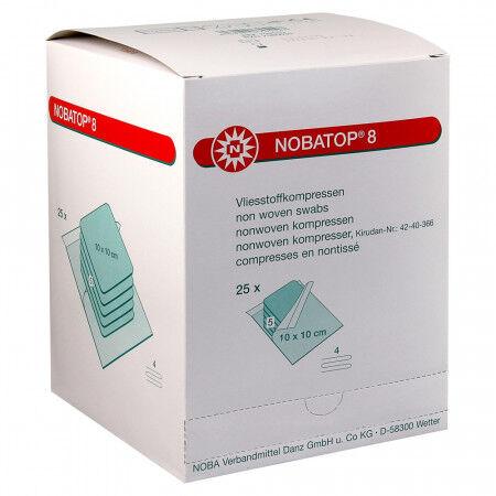 Nobatop 8 kompres nonwoven steriel 10x10cm per 60x2st.