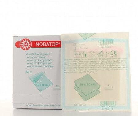 Nobatop kompres nonwoven steriel 10x10cm per 50x2st.