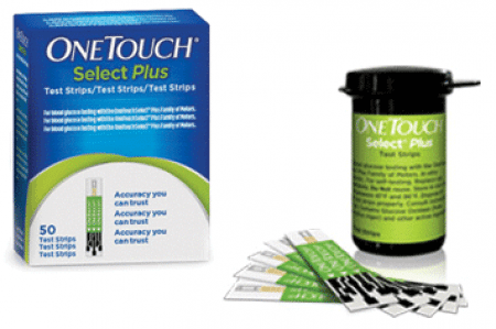 One Touch Select plus glucose teststrips per 50st.