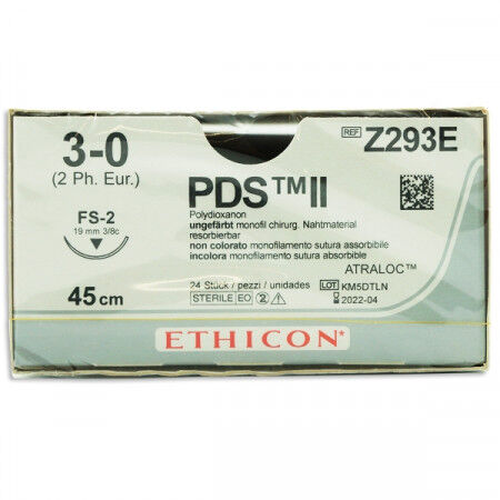 PDS 3-0 45cm draad met FS2 naald per 24st.