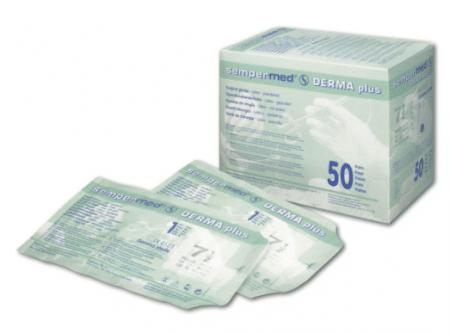Sempermed dermaplus latex ok handschoenen maat 6,5 per 50 paar