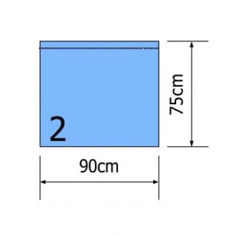 Euroguard steriele afdeklaken zelfklevend 90x75 per 25st.