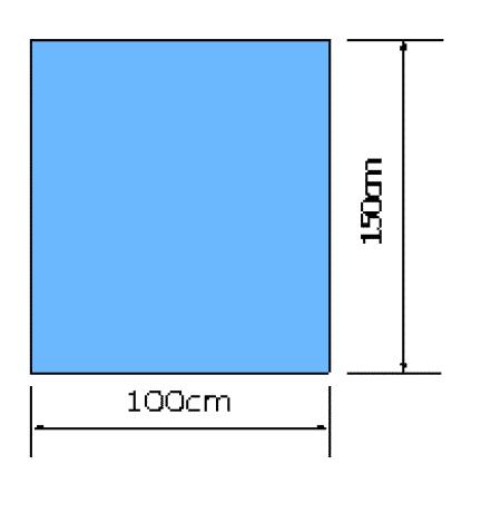 Euroguard steriele afdeklaken niet klevend 100x150cm per 60st.