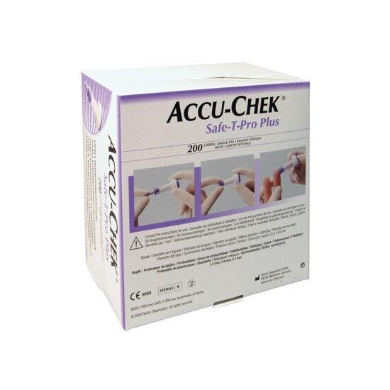 Accu-Chek Safe-T-Pro Plus lancetten per 200st.