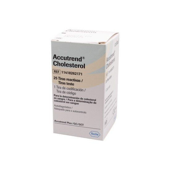 Accutrend cholesterol teststrips per 25st.