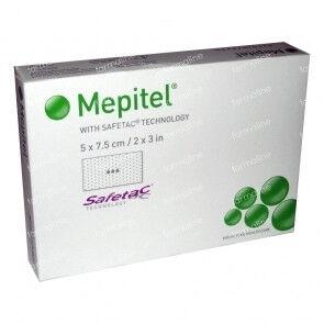Mepitel siliconen wondverband 5x7cm per 5st.