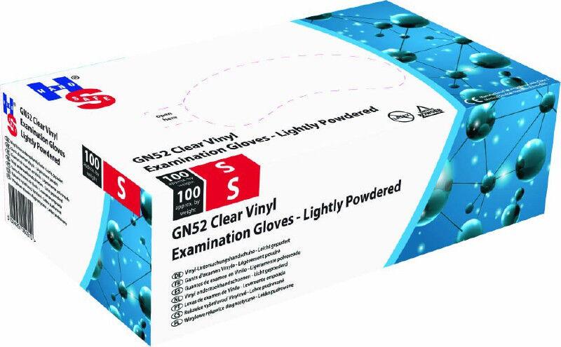 Handsafe vinyl handschoenen GN52 gepoederd per 100st. Medium