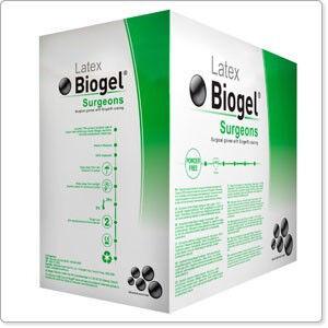 Biogel steriele latex handschoenen poedervrij per 50 paar mt 8