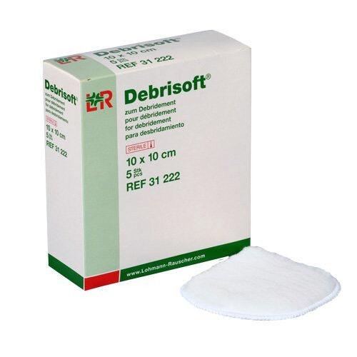 Debrisoft wondreinigingskompres 10x10cm per 5st.