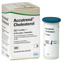 Accutrend cholesterol teststrips 25st.