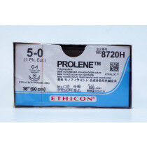 Prolene hechtdraad 8720H 5-0 blauw draad 90cm 2x C-1 taperpoint hechtnaald 3/8 13mm per 36st