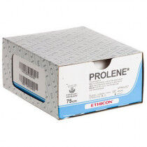 Prolene hechtdraad 8710H 5-0 met 2x RB-2 naald 75cm draad per 36st