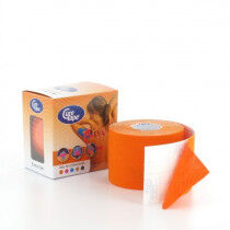 Curetape sporttape-kinesiotape 5x5cm oranje per stuk
