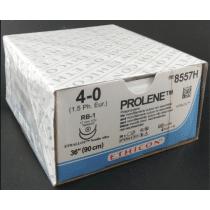 Prolene hechtdraad 4-0 met 2x RB-1 naald 90cm draad per 36st