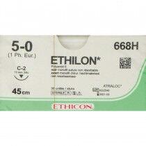 Ethilon hechtdraad 5-0 C2 naald 668H zwart per 36st.