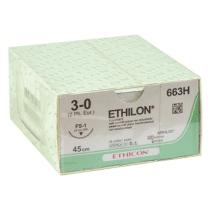 Ethilon 3-0 hechtdraad met FS-1 hechtnaald 45cm draad per 36st
