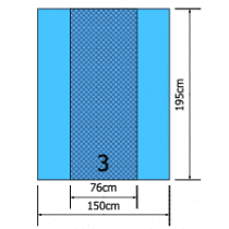 Euroguard steriel instrumentenveld 150x190cm per 50st.