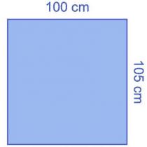 Euroguard steriele patientenlakens 105x100cm per 40st.