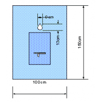Euroguard steriel mondheelkundelaken 150x100cm per 60st