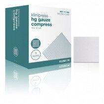 Klinion hydrofiel gaaskompres 10x10cm 8 laags per 100st steriel