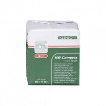 Klinion nonwoven kompres 10x10cm 4 laags per 100st. niet steriel