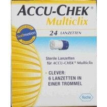 Multiclix lancetten van accu-chek per 24st.