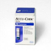Glucosestrips Accu Chek Aviva bloedsuiker teststrips per 50st.
