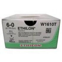 Ethilon hechtdraad 6-0 45cm zwart met C2 naald per 36st.