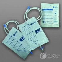 Urinezak Curas 2L met trekkraan 90cm slang per 10x25st.