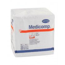 Medicomp nonwoven kompres 4-laags 10x10cm niet steriel (100 stuks)