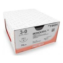 Monocryl hechtdraad Y442H draad 3/0 met FS1 naald 3/8 24mm per 36st.