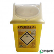 Sharpsafe 4L naaldcontainer per stuk verpakt