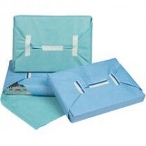 Sterilisatiepapier SMS 355/355 groen/blauw 120x120cm per 38 vellen/19 sets