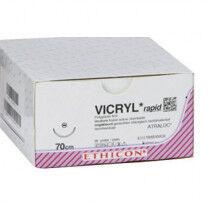Vicryl Rapide VR2289 hechtdraad ongekleurd 5-0 met C-3 naald 75cm draad per 36st.