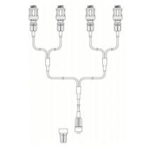 Codan vierwegconnector 4x R-Lock+Swan-lock octopus 15cm per 100st.