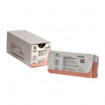 Monocryl 5-0 hechtdraad naald FS-2, 70cm 12st. W3209. ongekleurde draad, FS-2 19mm