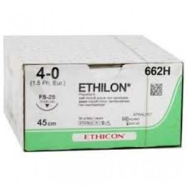 Ethilon hechtdraad 4-0 FS-2S naald 662H-662SLH 45cm draad per 36st