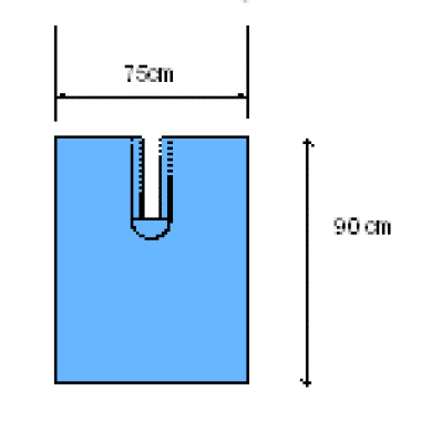 Euroguard splitlaken U-laken steriel 90x75cm met 10x12cm split per 50st.