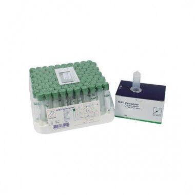 Vacutainer buis met groene dop per 100st.