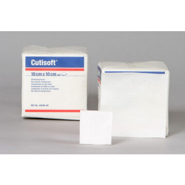Cutisoft gaaskompres 10x10 niet steriel 100st.