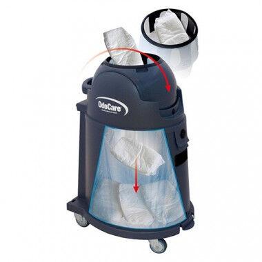 Odocare 75L afvalbak verrijdbaar voor inco