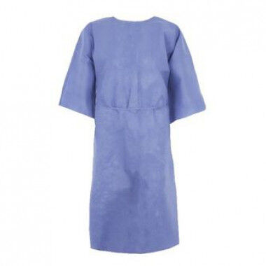 Medline patientenhemd met korte mouwen blauw per 50st.